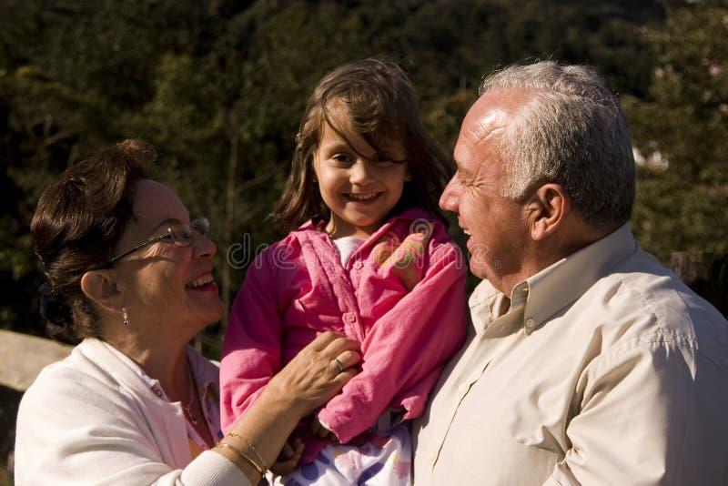 Grandparent e neta imagens de stock royalty free