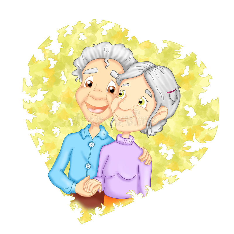 Grandparent In Love Stock Photography