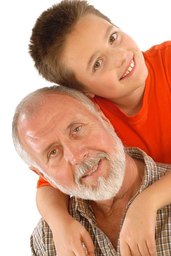 Grandparenting fotografia stock