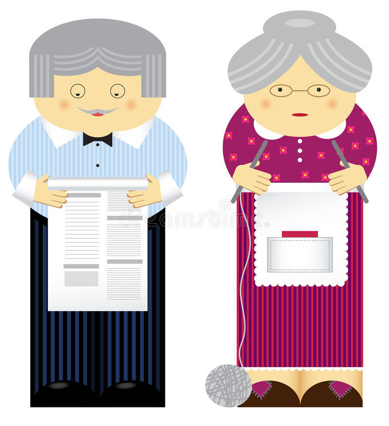 Grandparents ilustração royalty free