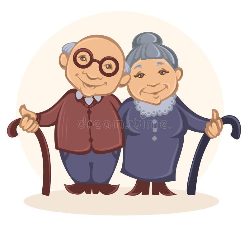 grandparents ilustração stock