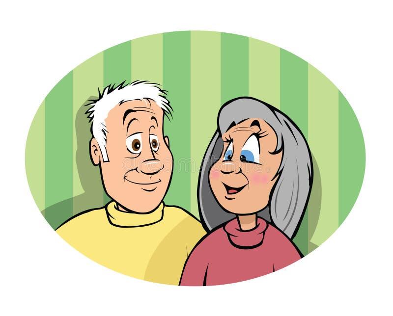 Grandparents ilustração do vetor