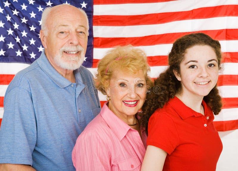 Grandparents americanos imagens de stock royalty free