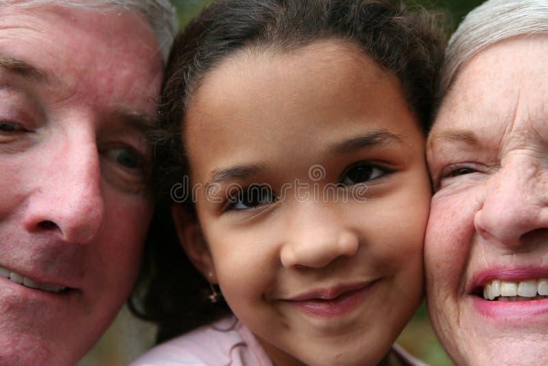 Grandparents com Grandaughter fotografia de stock royalty free