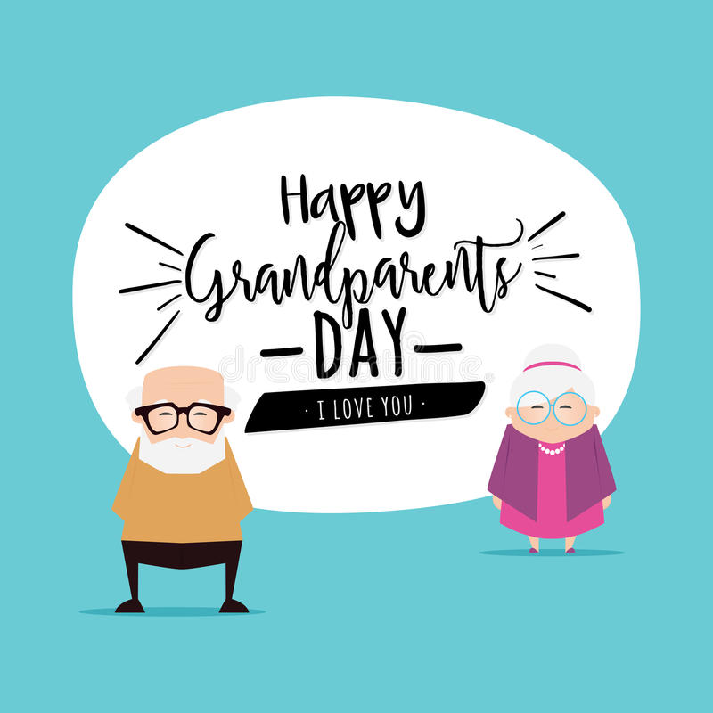 Grandparents day background. Abstract grandparents day background with some special objects royalty free illustration