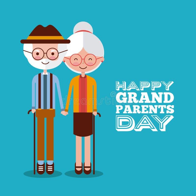 Grandparents day design royalty free illustration