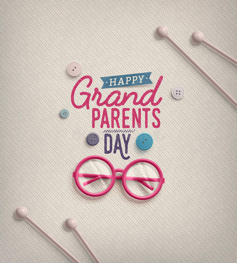 Grandparents Day vector illustration