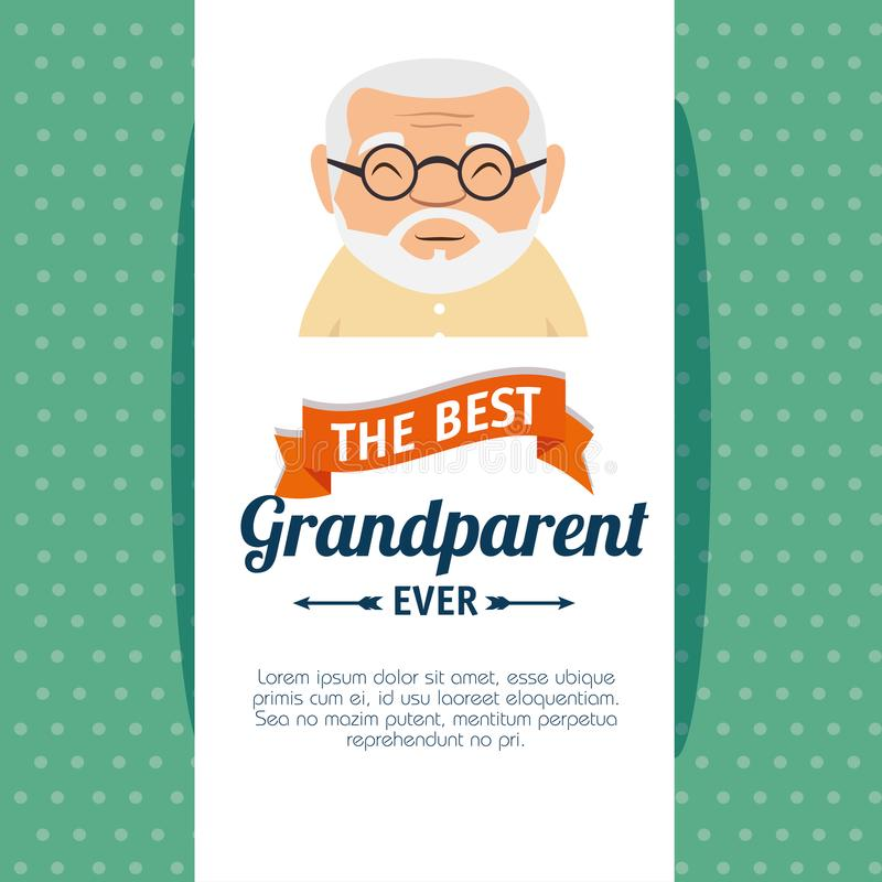 Grandparents day greeting card. Vector illustration graphic design vector illustration