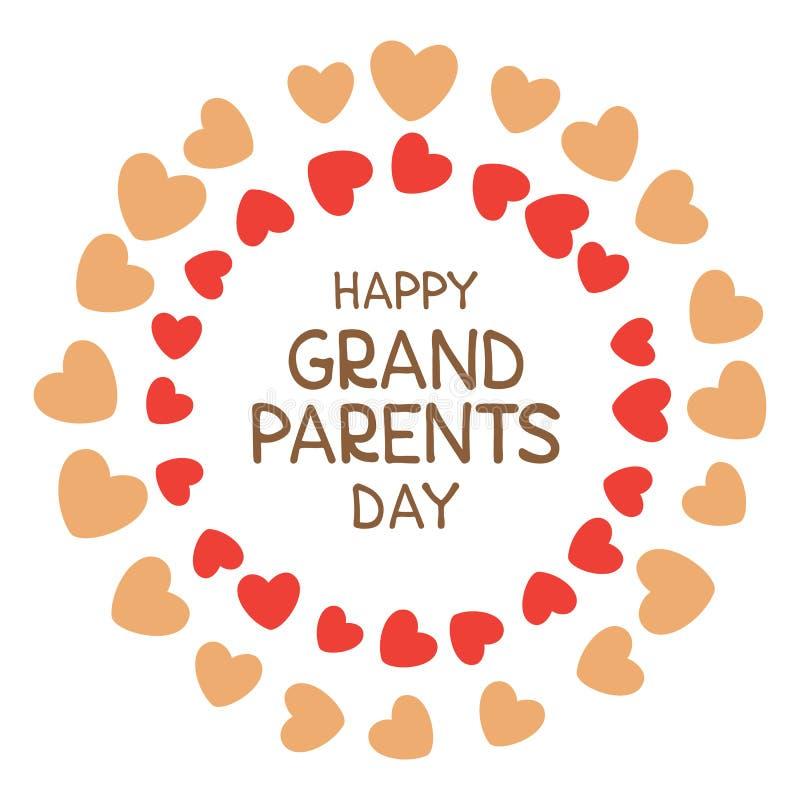 Grandparents day-05 stock illustration