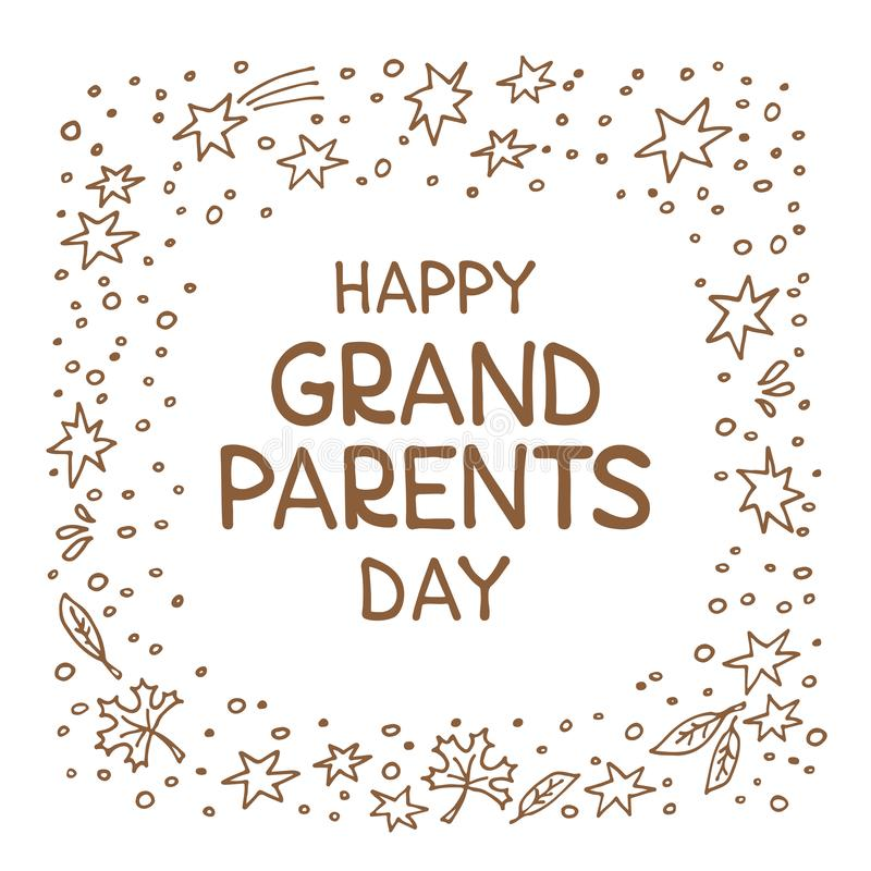 Grandparents day-02 vector illustration