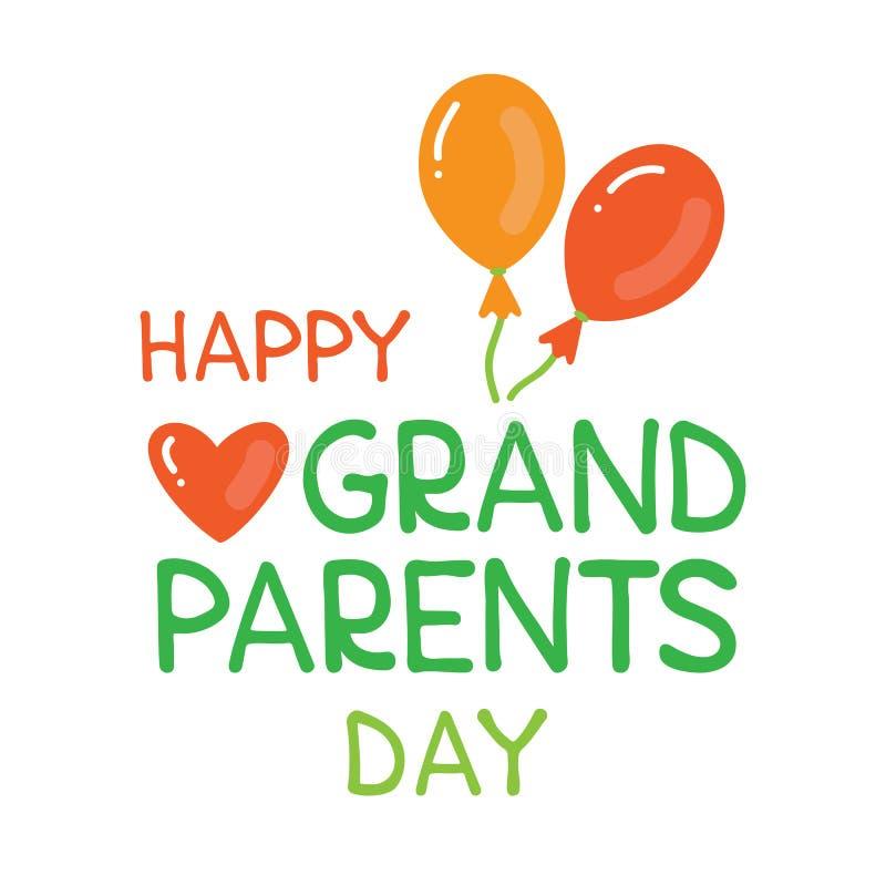 Grandparents day-03 royalty free illustration