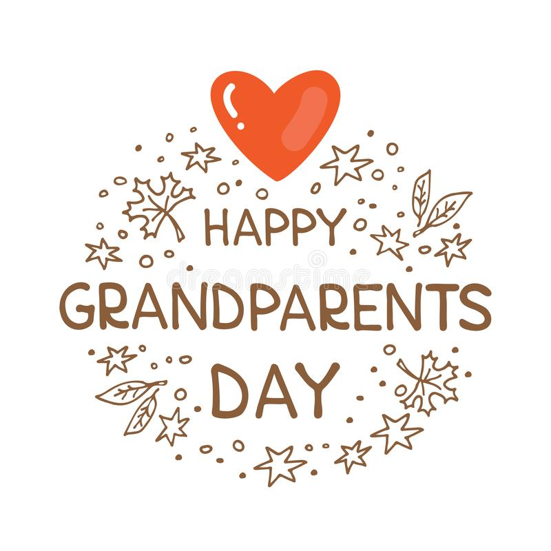 Grandparents day-01 royalty free illustration