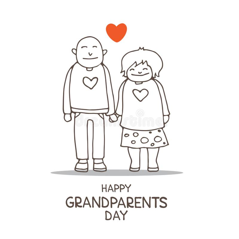 Grandparents day-10 royalty free illustration