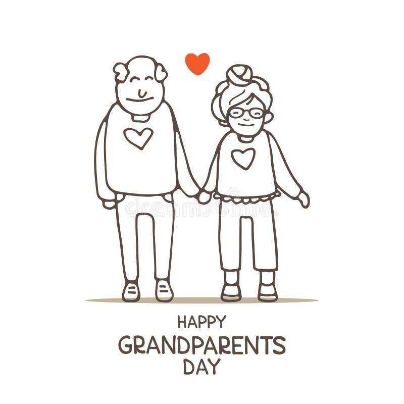 Grandparents day-11 royalty free illustration