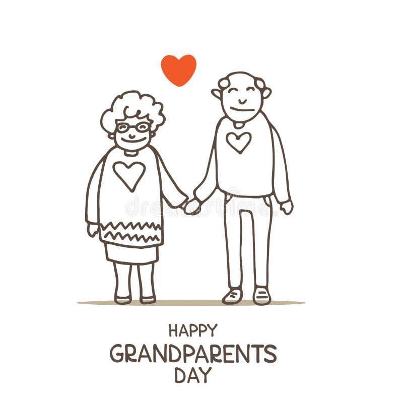 Grandparents day-08 stock illustration