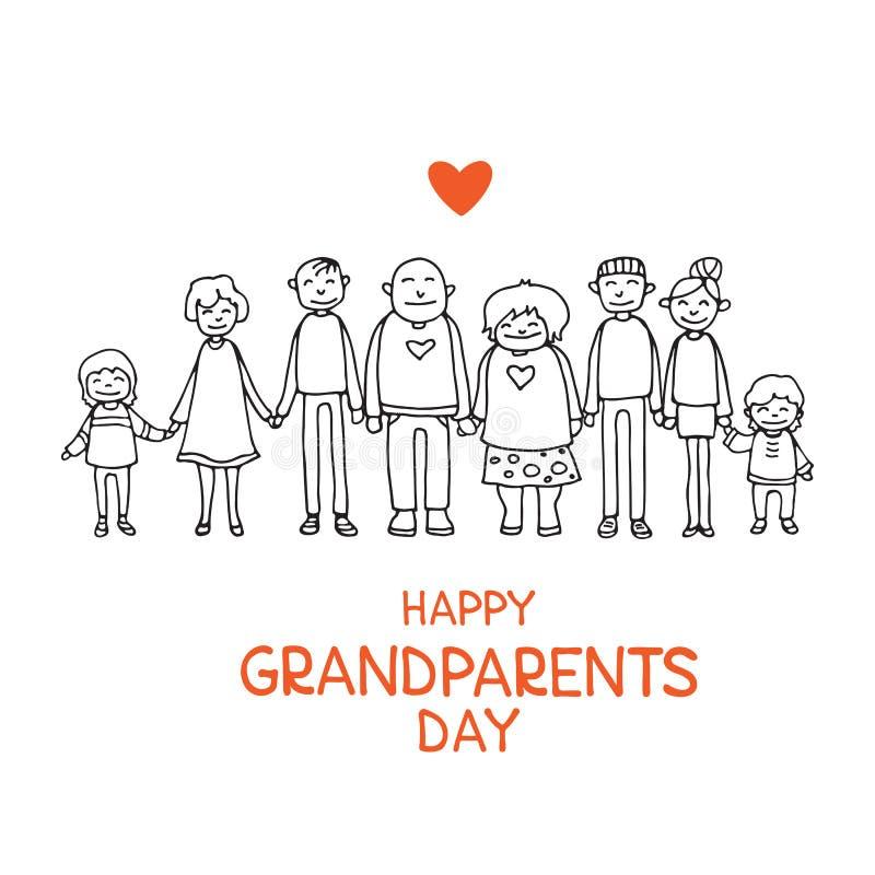 Grandparents day-06 stock illustration