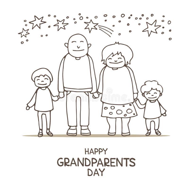 Grandparents day-09 stock illustration