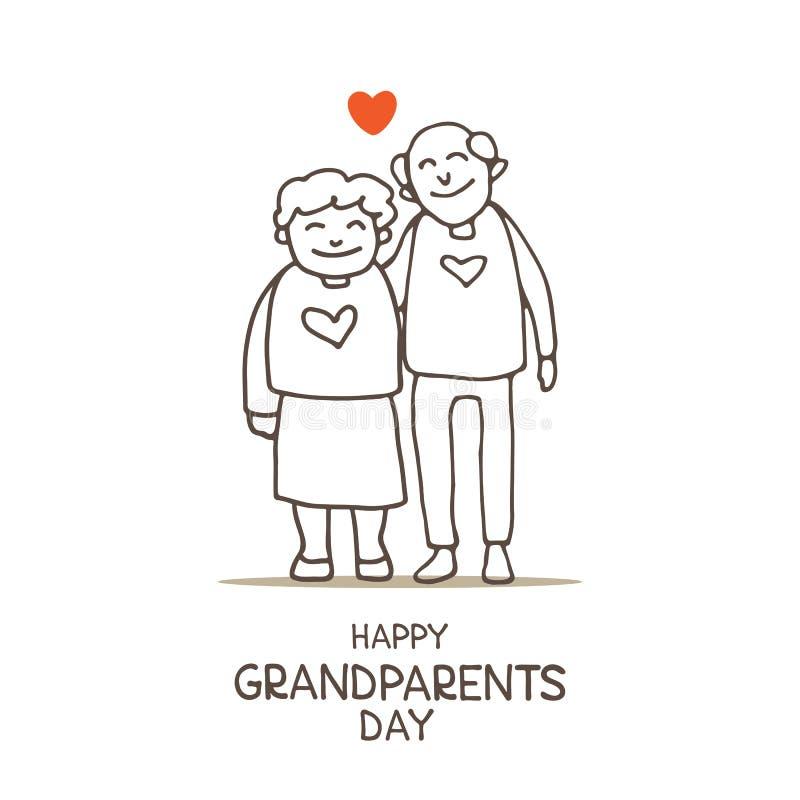 Grandparents day-12 royalty free illustration