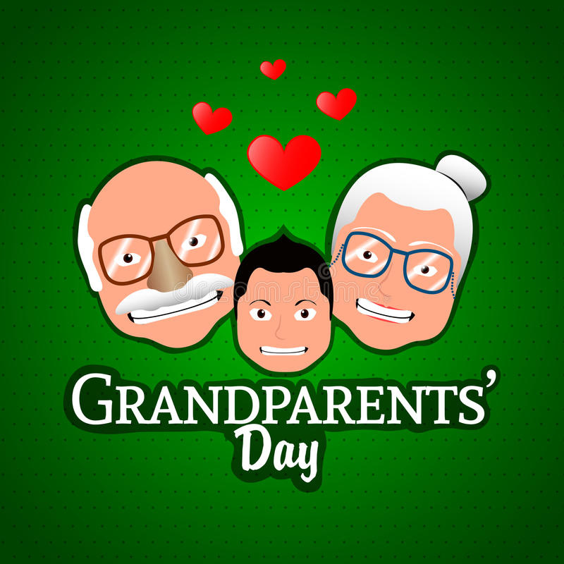 Grandparents day. Happy grandparents day graphic design, Vector illustration royalty free illustration