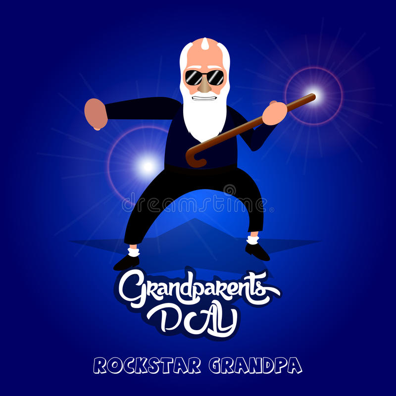 Grandparents day. Happy grandparents day graphic design, Vector illustration stock illustration