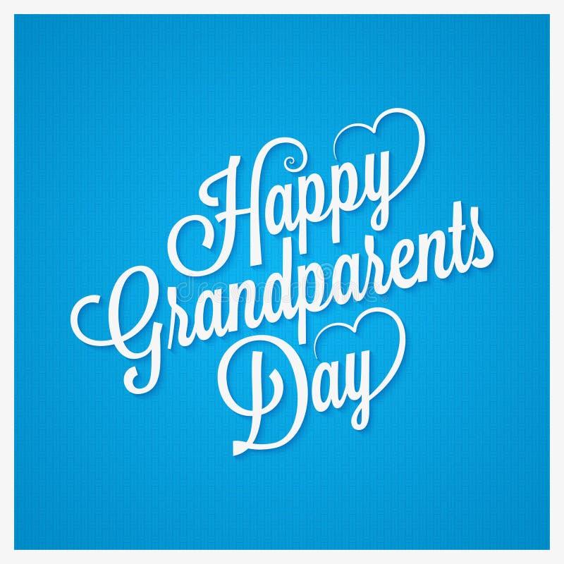Grandparents day vintage lettering design background vector illustration