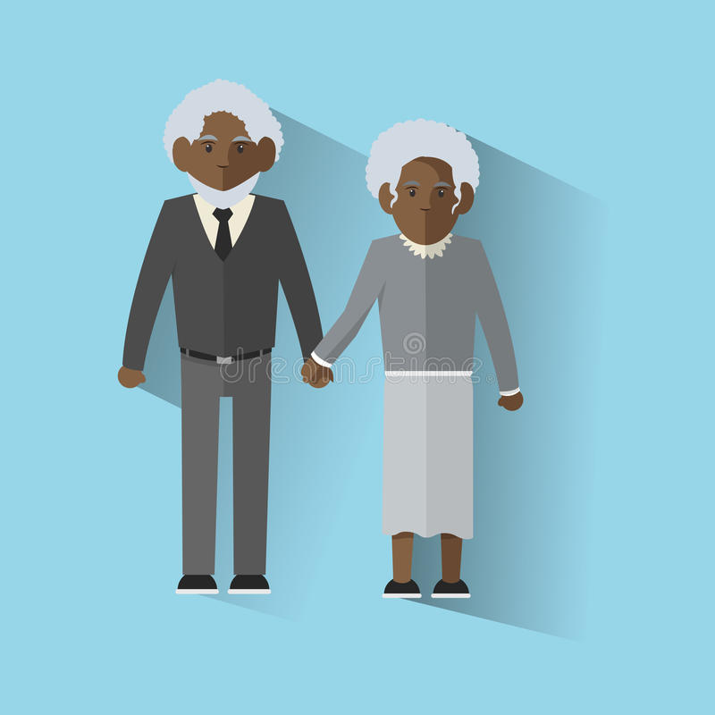 Grandparents design. Grandparents concept with old people design, vector illustration 10 eps graphic royalty free illustration