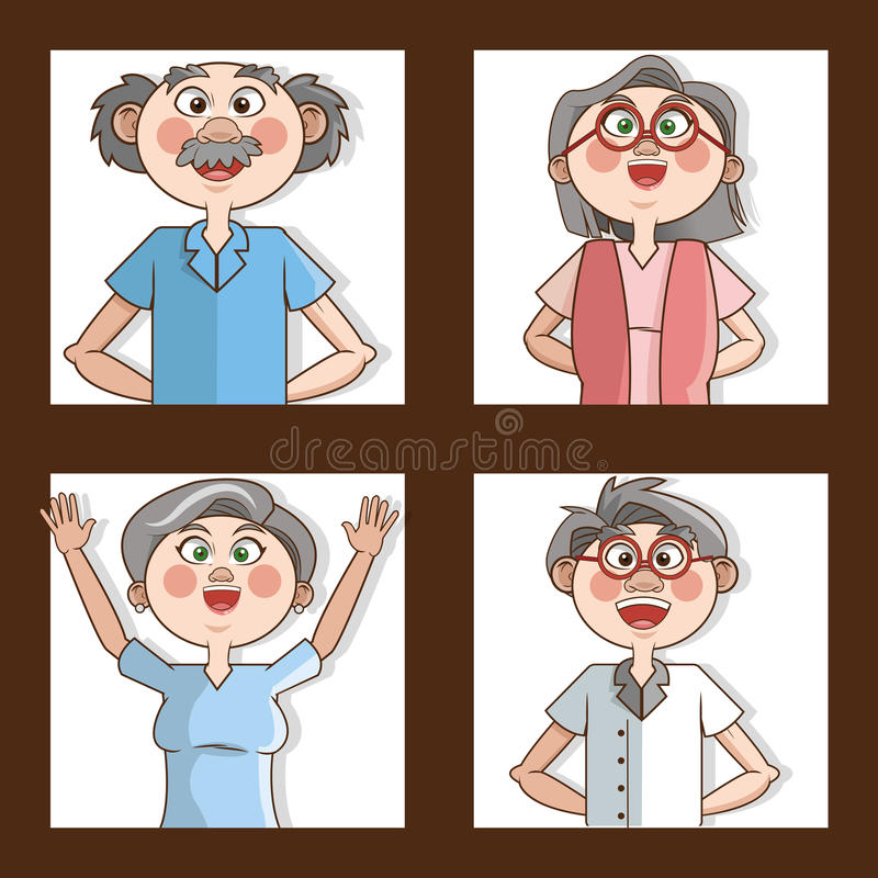 Grandparents design. Grandparents concept with old people design, vector illustration 10 eps graphic stock illustration
