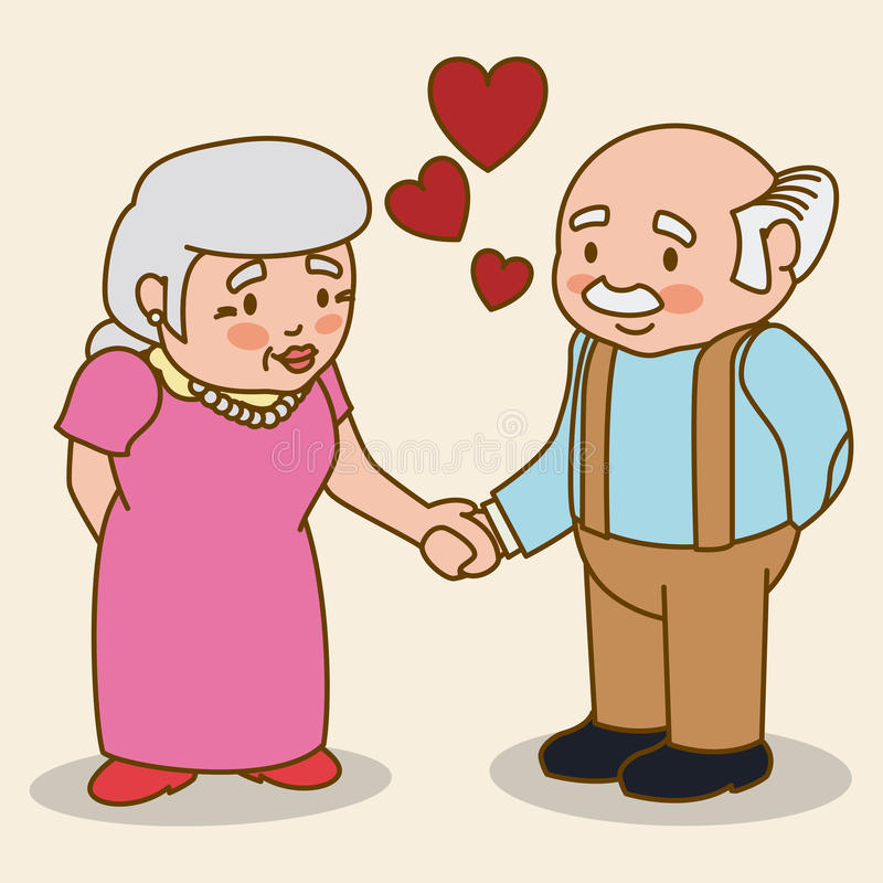 Grandparents design. Grandparents design over beige background, vector illustration stock illustration