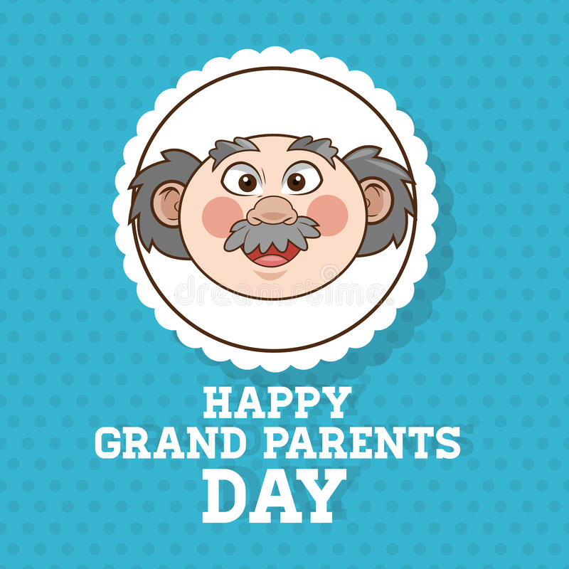 Grandparents design, people vector. Grandparents concept with old people design, vector illustration 10 eps graphic royalty free illustration