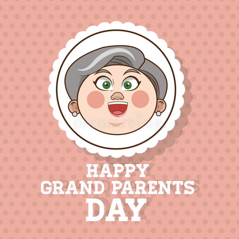 Grandparents design, people vector. Grandparents concept with old people design, vector illustration 10 eps graphic stock illustration
