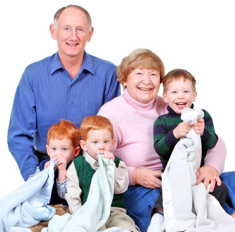 Grandparents felizes imagem de stock royalty free