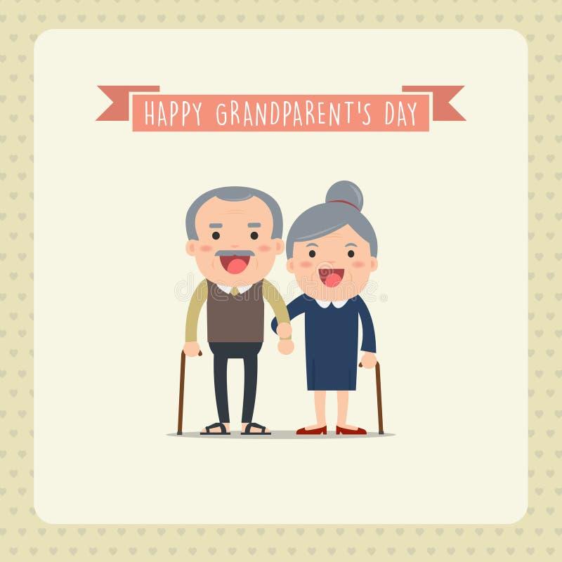 Grandparents felizes ilustração do vetor