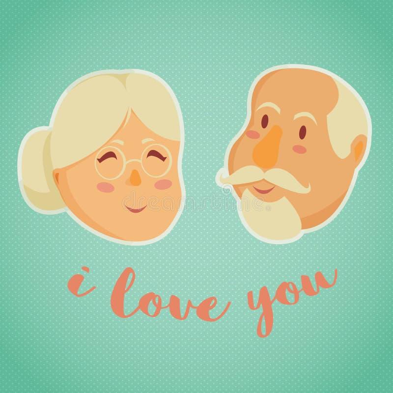 Grandparents felizes Ilustração do vetor ilustração do vetor