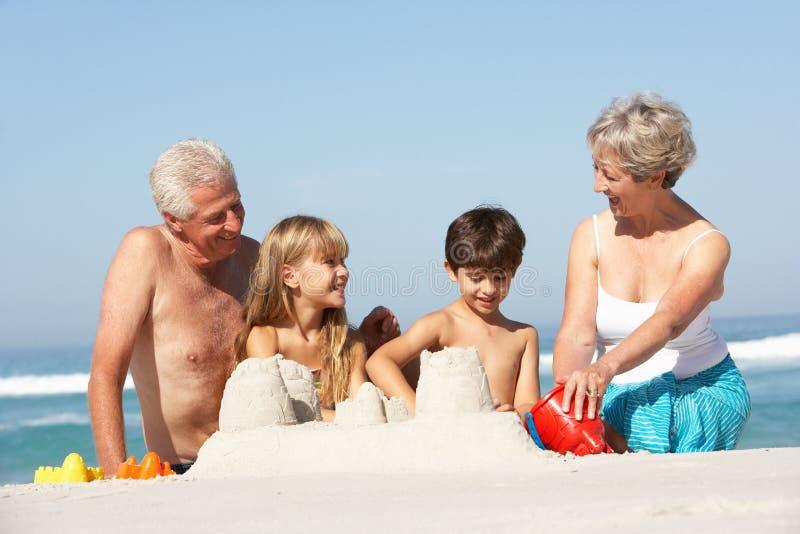 Grandparents And Grandchildren Together stock photos