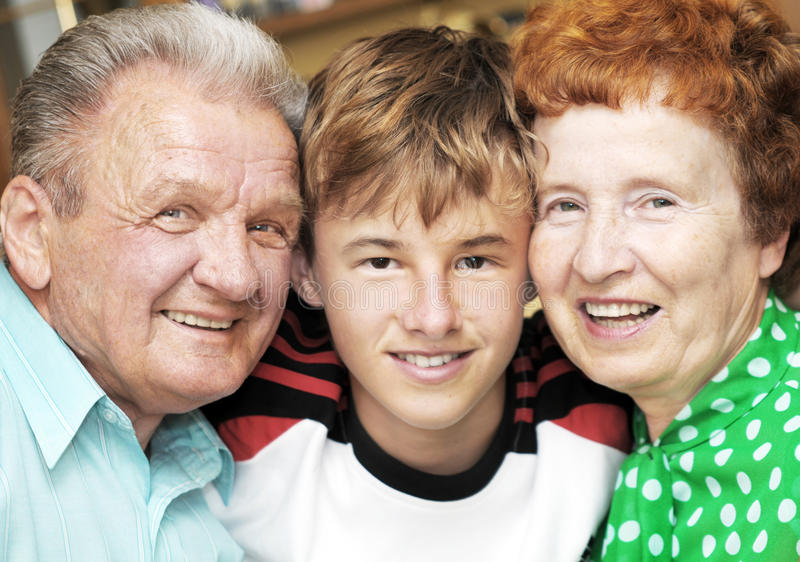 Download Grandparents with grandson stock image. Image of grandfather - 14648129