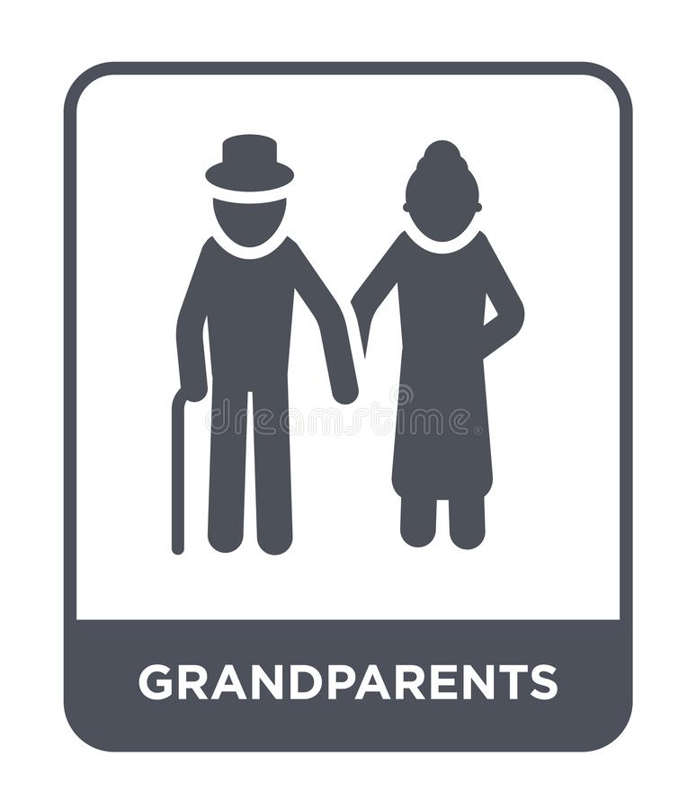 Grandparents icon in trendy design style. grandparents icon isolated on white background. grandparents vector icon simple and. Modern flat symbol for web site royalty free illustration