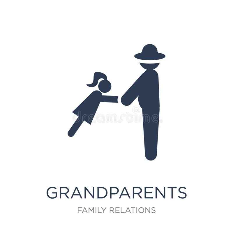 Grandparents icon. Trendy flat vector grandparents icon on white. Background from family relations collection, vector illustration can be use for web and mobile vector illustration
