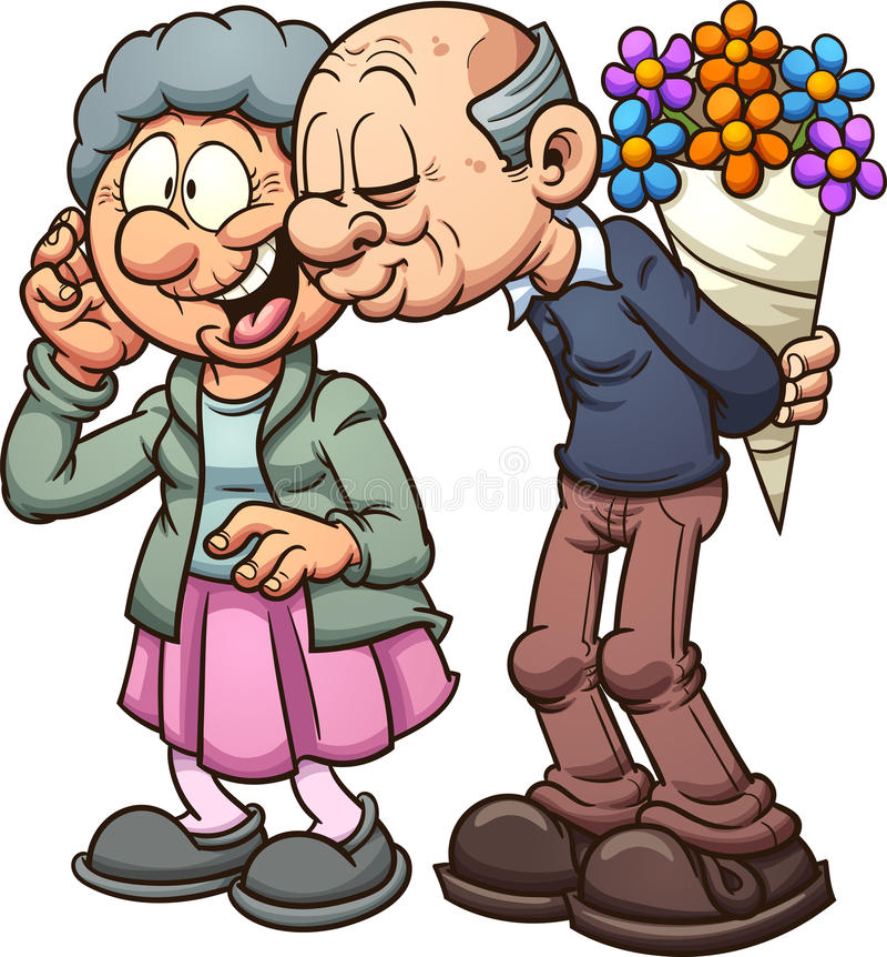 Grandparents in love stock illustration