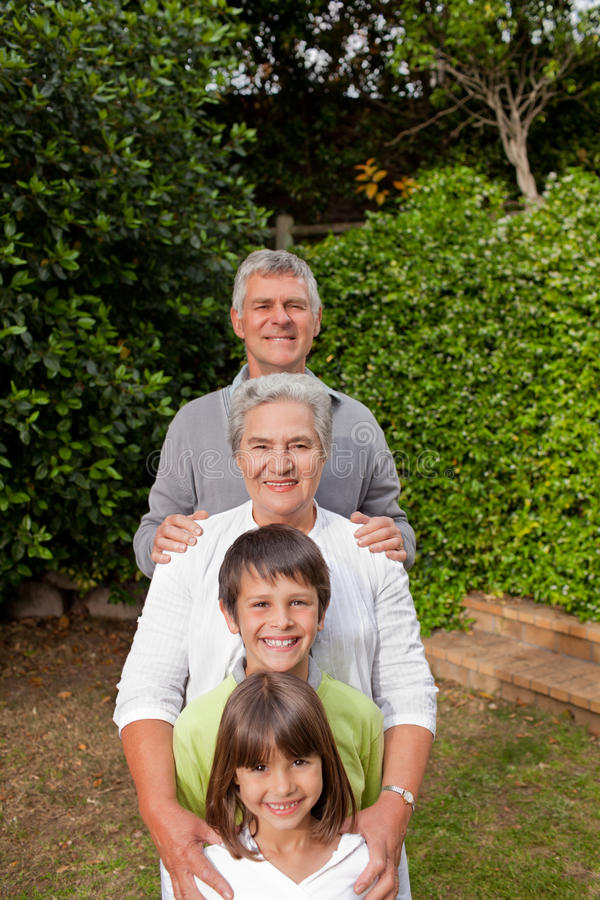 Download Grandparents With Their Grandchildren Stock Image - Image: 18101235