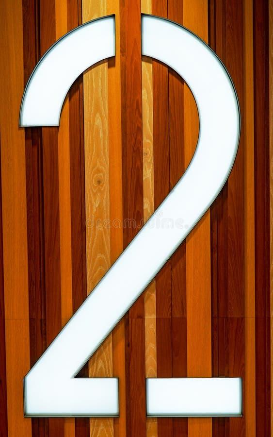 Grands 2 avec le fond en bois naturel de panneautage image stock