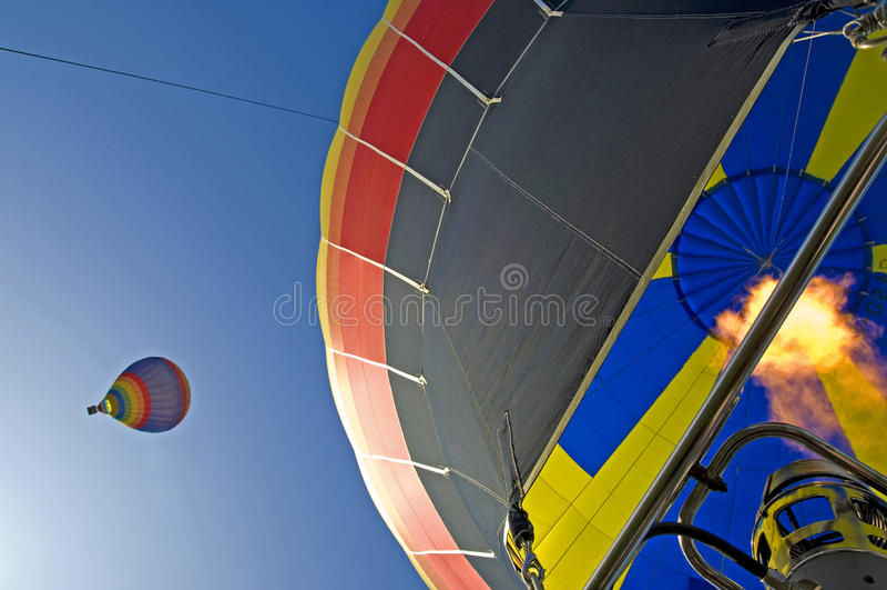 Grands ballons à air chauds ensemble photographie stock