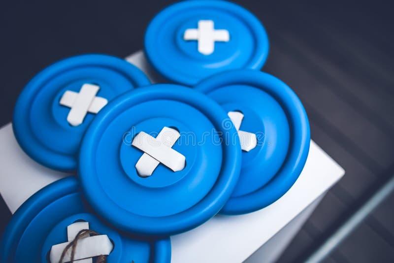 Grands Boutons Bleus Domaine Public Gratuitement Cc0 Image