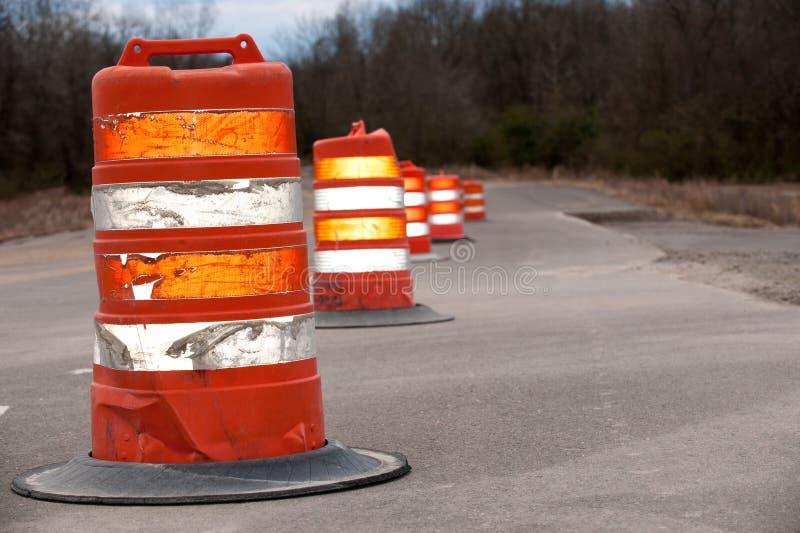 Grands cônes de route photo stock
