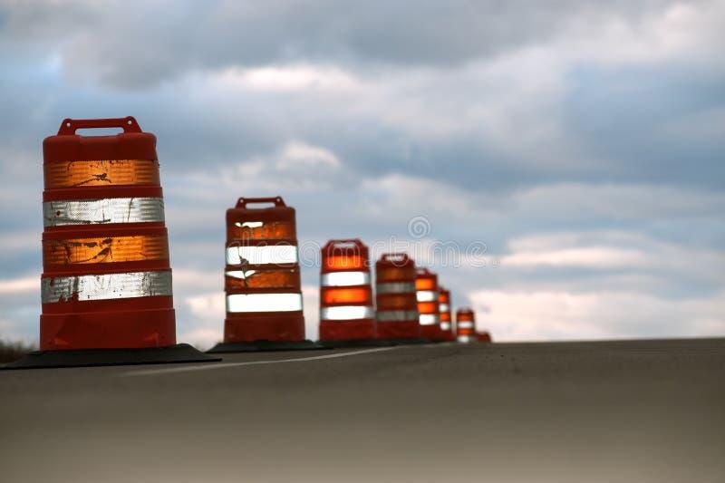 Grands cônes de route image libre de droits