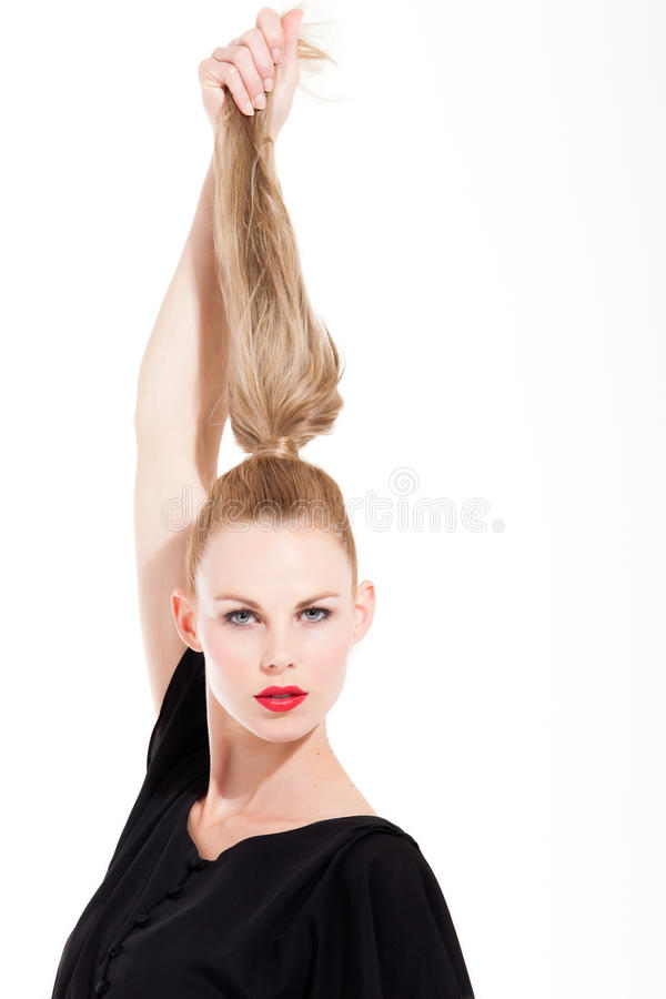 Grands cheveux- photographie stock
