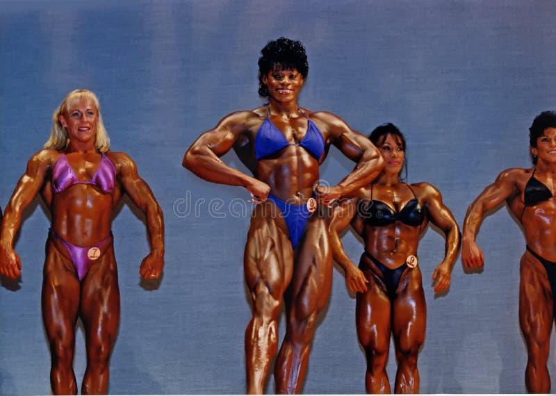 Grands, définis Bodybuilders de femmes photographie stock libre de droits