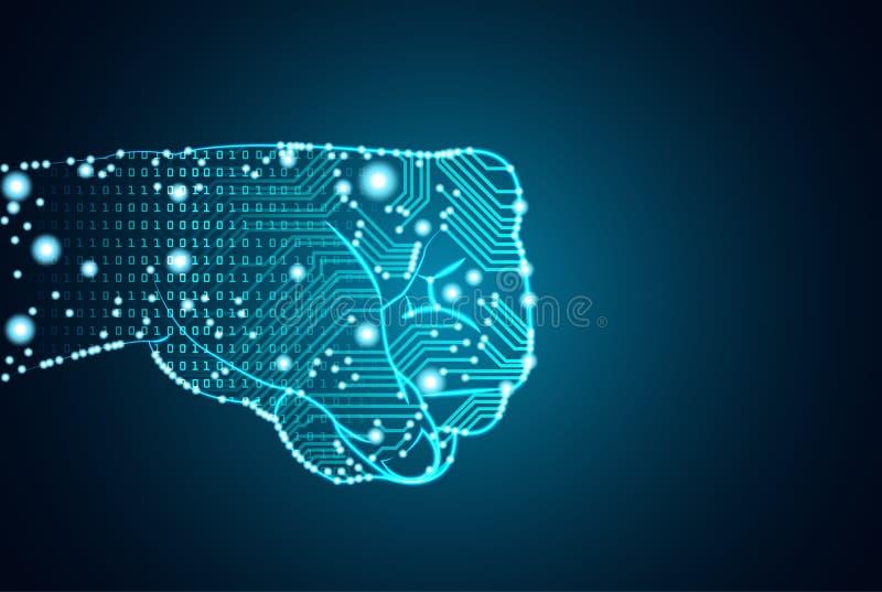 Grands données et concept de domination d'intelligence artificielle illustration libre de droits