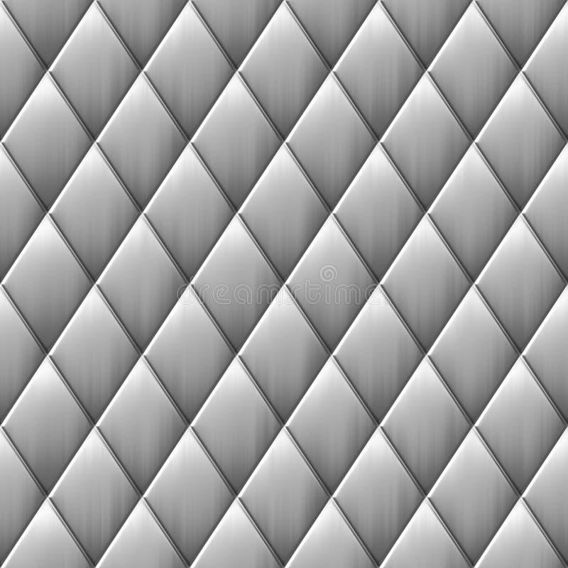 Grands dos balayés de diamant en métal illustration de vecteur