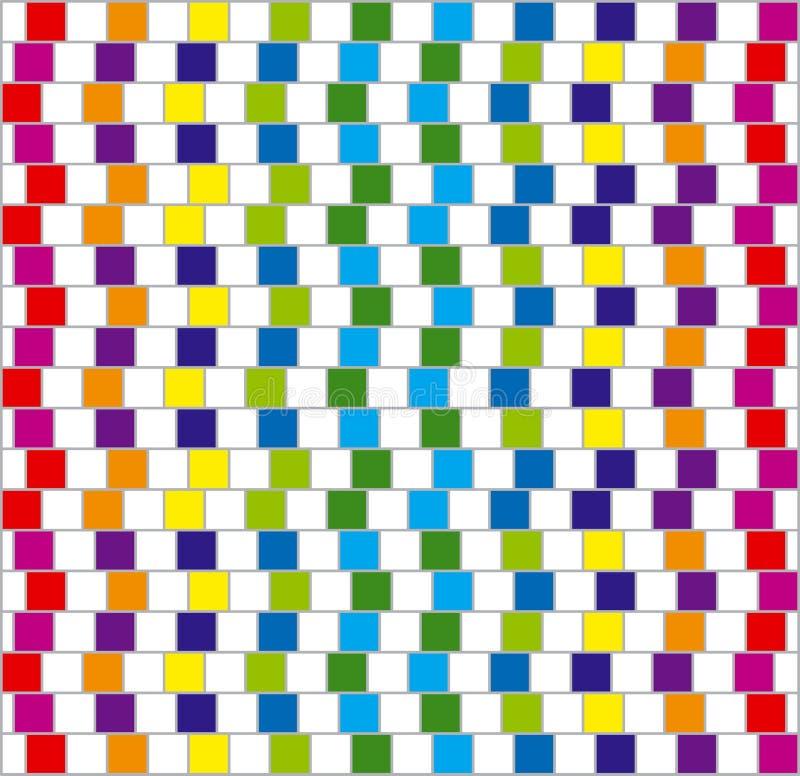 Grands dos colorés. Vecteur. illustration stock