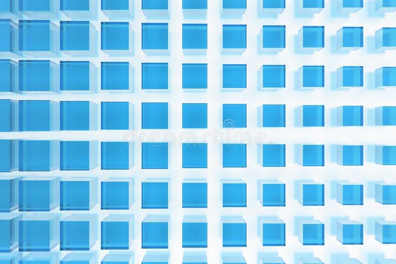Grands Dos En Verre Bleus Photographie stock libre de droits